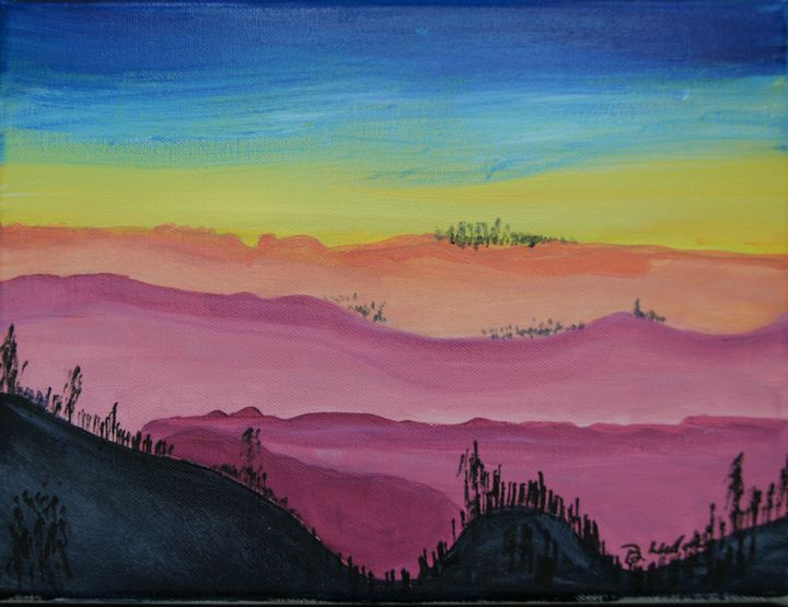 Mountain Sunset - Homemade Arts by Bill Ludwig
