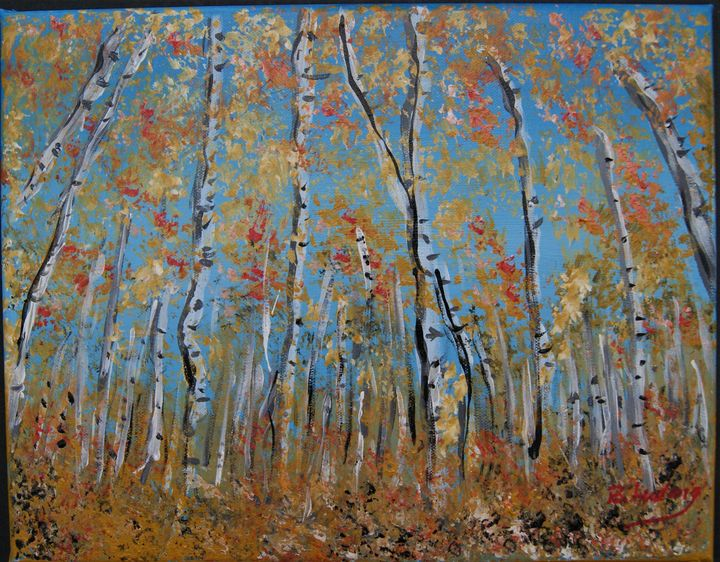 Birches---SOLD - Homemade Arts by Bill Ludwig