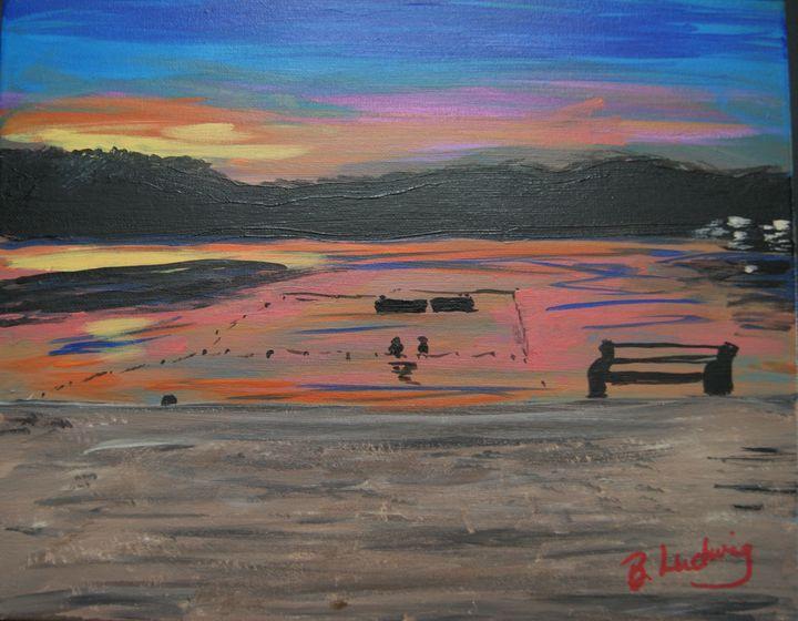 Silver Lake at Dusk, Hope NJ - Homemade Arts by Bill Ludwig