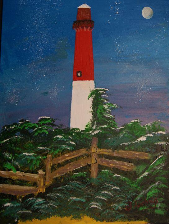 Barnegat Lighthouse - Homemade Arts by Bill Ludwig