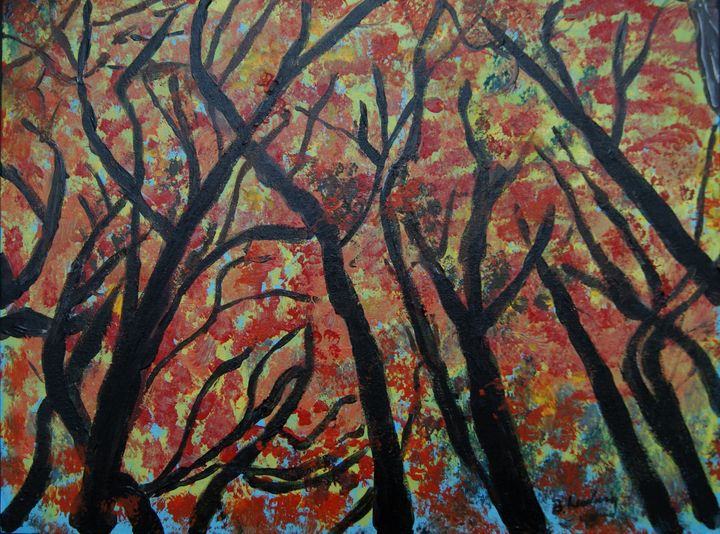 Fall Trees - Homemade Arts by Bill Ludwig