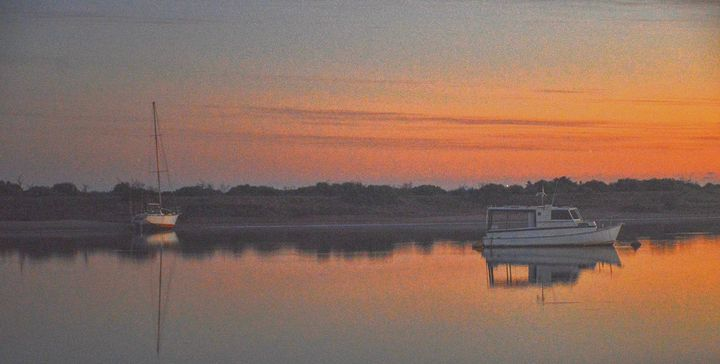sunset over the boats - LynneE