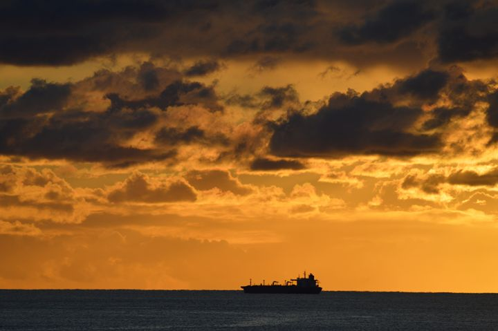 Ship and Clouds - LynneE