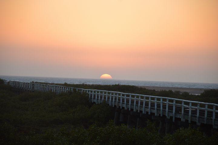 Sundown on Our Jetty - LynneE
