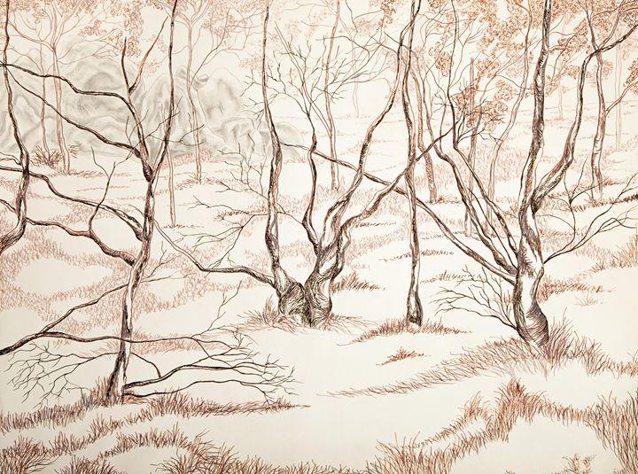Forest Trees - Art by Tobin Eason