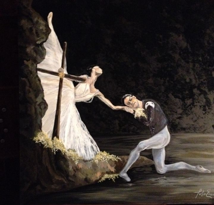 Giselle's Final Farewell to Albrecht - Art by Tobin Eason