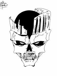 Skull of castle
