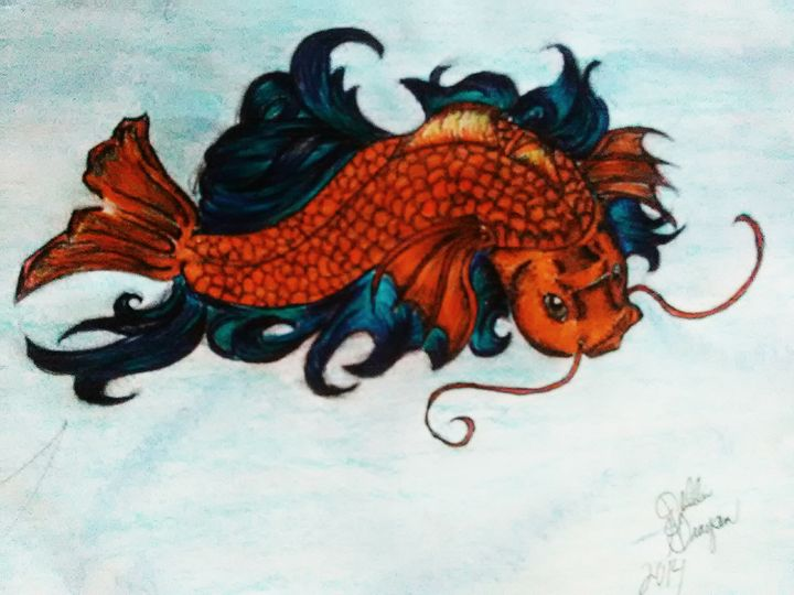 koi fish - Deb gray