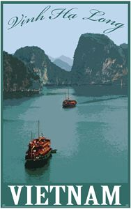 Halong Bay Original Travel Poster
