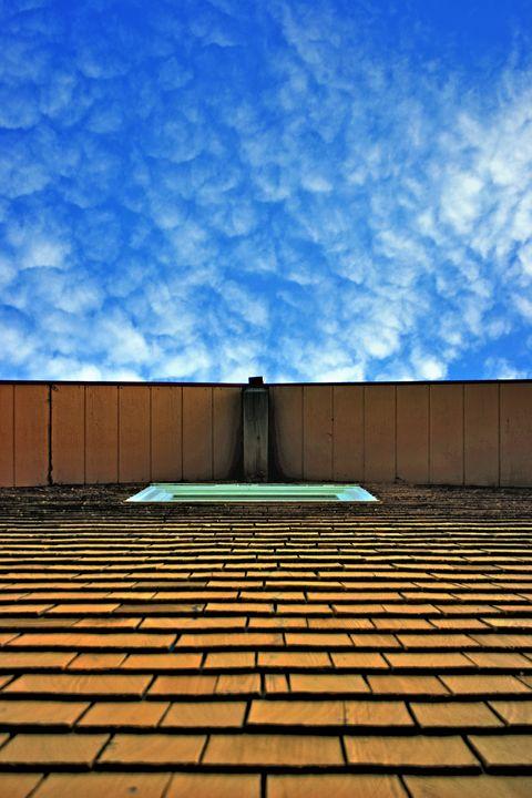 Yellow Tiles - Blue Sky - David Toy - Peak Light Photography