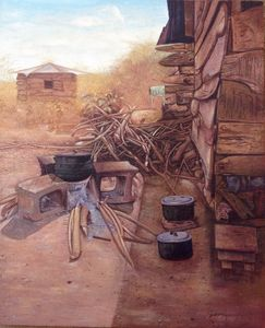 A typical African village kitchen