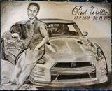 Paul Walker with Nissan GTR