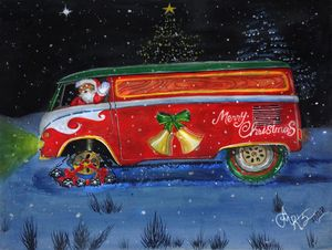 Volkswagen Bus Christmas Theme