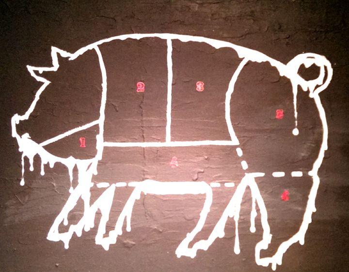 Le cochon - Daniel John Original Art