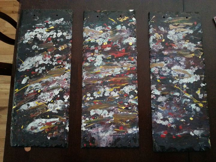 Slate abstract - Daniel John Original Art