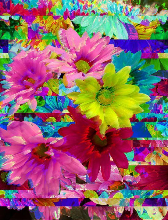 Flowers & Flowers & Flowers - Databent Art