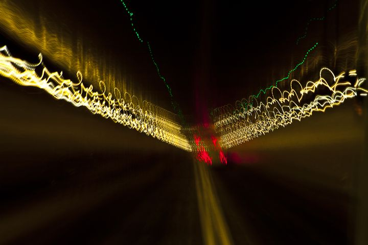 New York City Light Trails - ArtByLaurenBritz