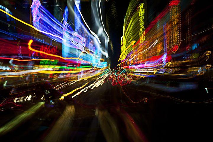 New York City Light Trails - ArtByLaurenBritz