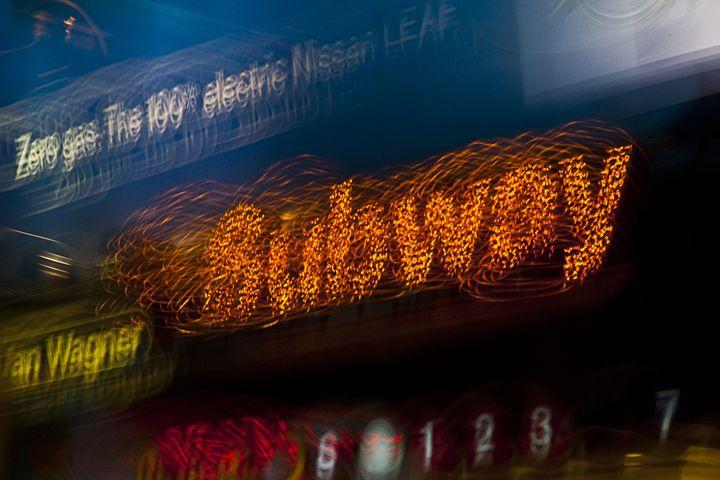 New York City Light Trails - Subway - ArtByLaurenBritz