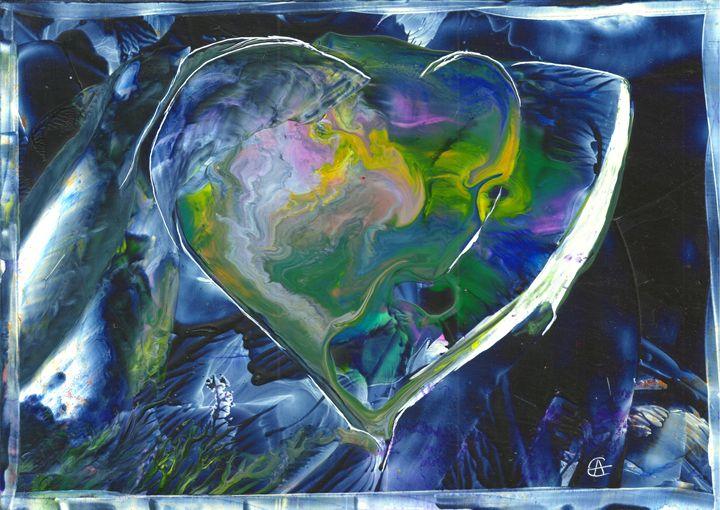 Rainbow in the dark heart - Angela Egwim - Heart Art