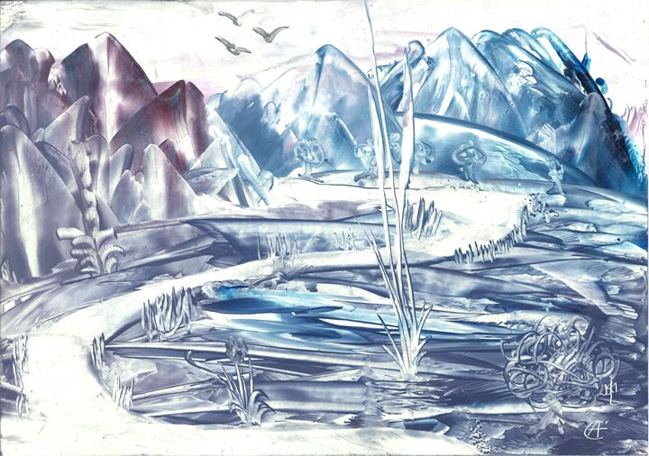 Icy landscape - Angela Egwim - Heart Art