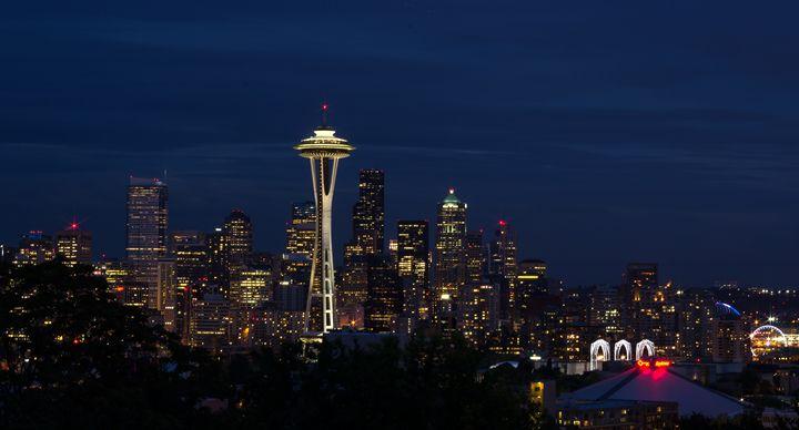 Seattle Night Downtown - MurdokX