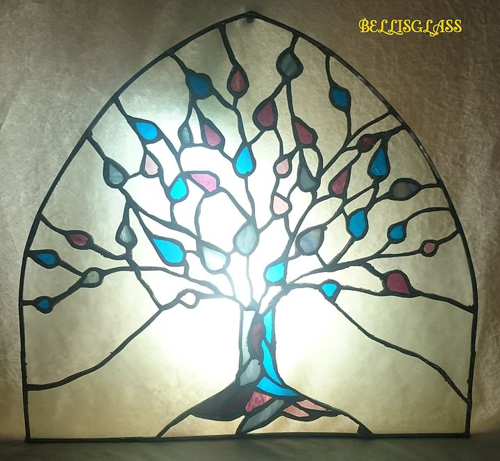 Tree- stained glass - BellisGlass