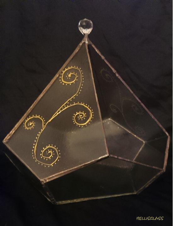 Diamond glass decor - BellisGlass