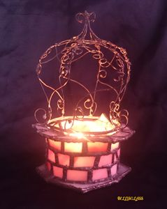 Lucky well - glass candle holder