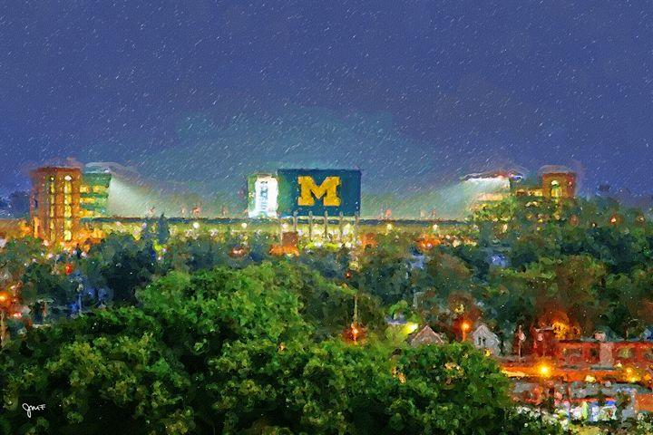 Stadium At Night - johnfarr