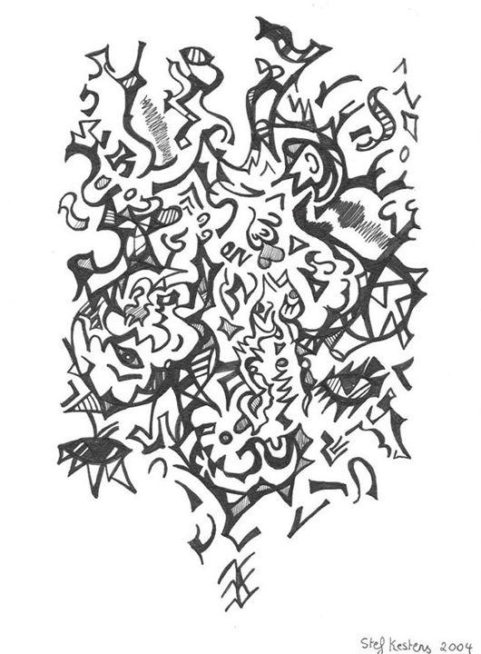 Spiritual climb - Stef Kestens Art Gallery