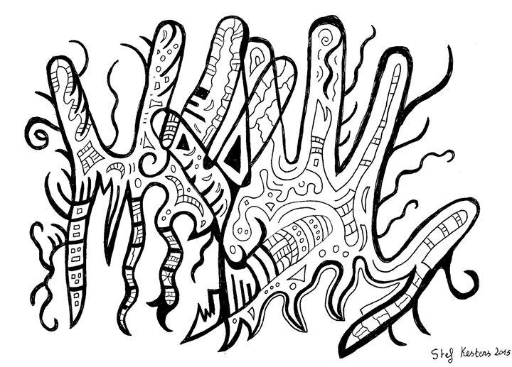 Hands in the wood - Stef Kestens Art Gallery