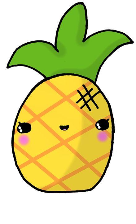 Kawaii Cute Pineapple Tropical Screamingpillow Drawings