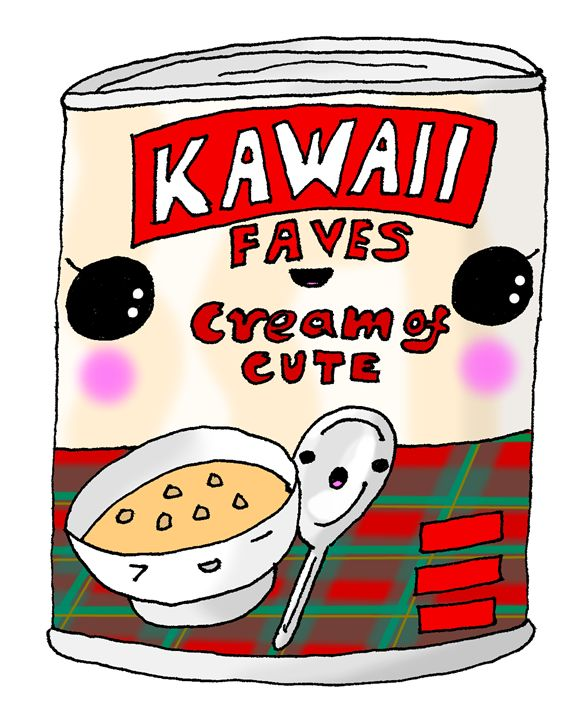 Kawaii Cute Tin A' Soup (BAXTERS\) - Screamingpillow