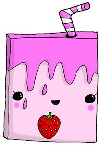 Kawaii Cute Strawberry Milk Carton A