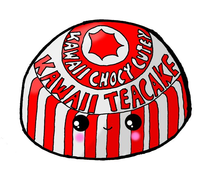 Kawaii Cute Teacake (Tunnocks) Glasg - Screamingpillow