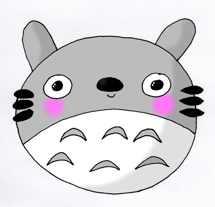 Kawaii Cute Totoro (Studio Ghibli) I - Screamingpillow