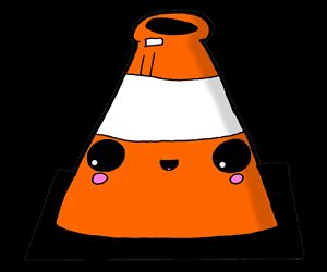 Kawaii Cute Traffic Cone Glasgow
