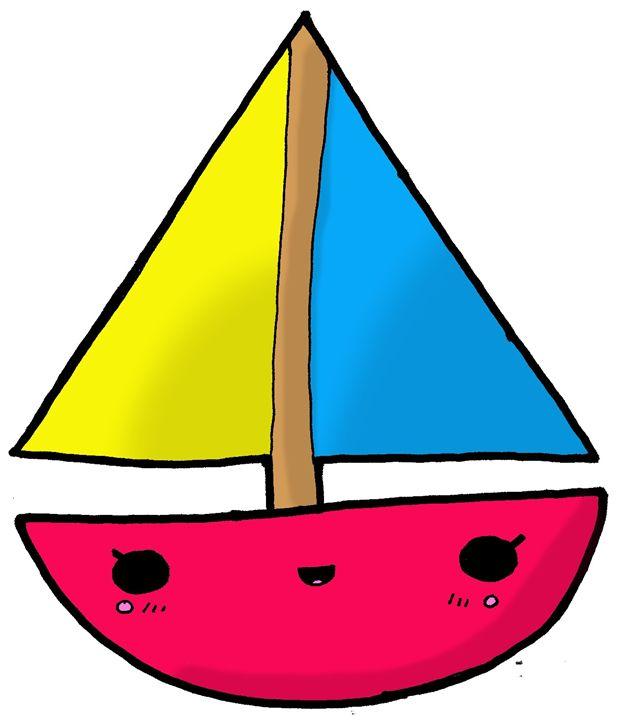 Kawaii Cute Sailboat - Screamingpillow