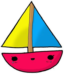 Kawaii Cute Sailboat