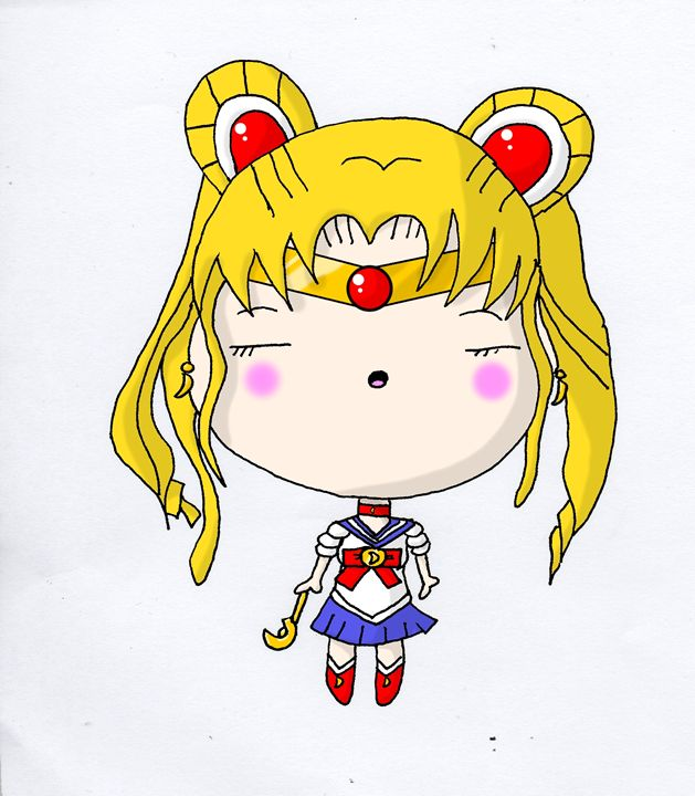 Kawaii Chibi Anime Sailor Moon Cutey - Screamingpillow