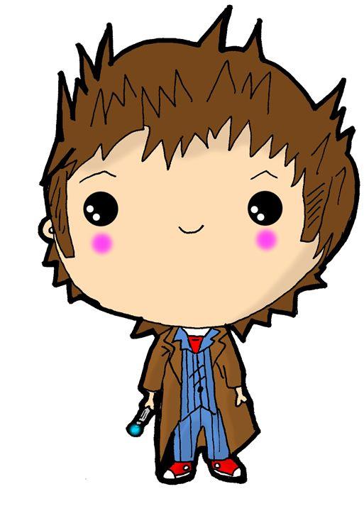 Kawaii Doctor Who David Tennant Screamingpillow Drawings