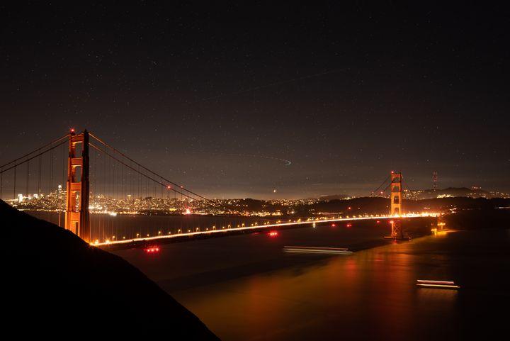 Starry Night, Golden Bridge - Jerome Paulos