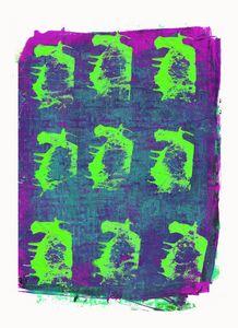 abstract art mixed media print No 43