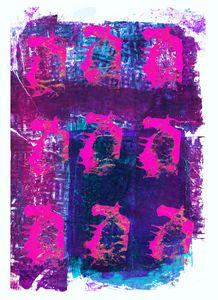 abstract art mixed media print 45