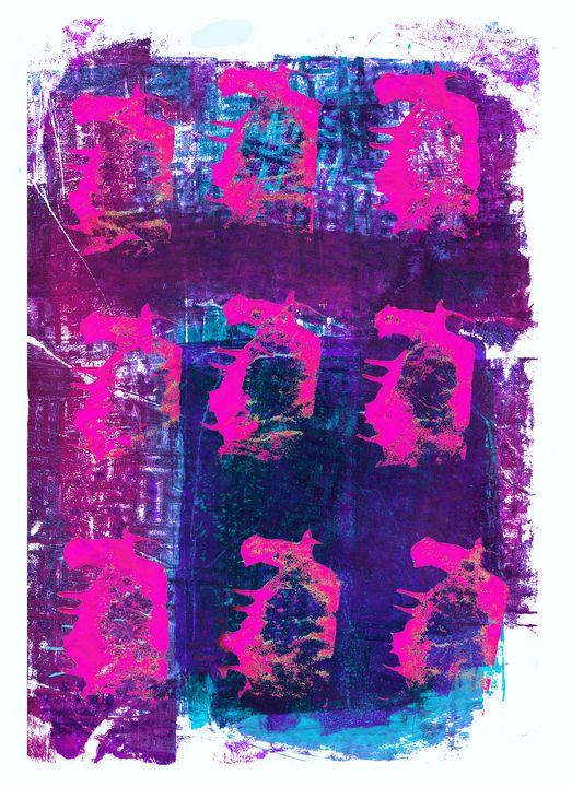 abstract art mixed media print 45 - Malgorzata Hincza