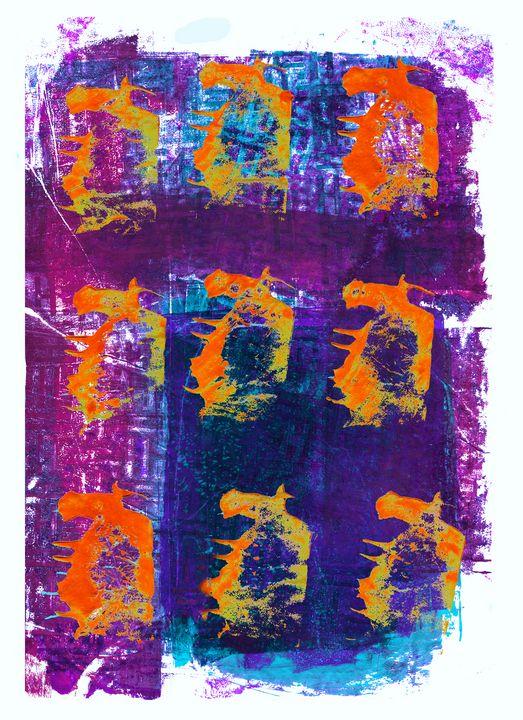 abstract art mixed media print No 46 - Malgorzata Hincza