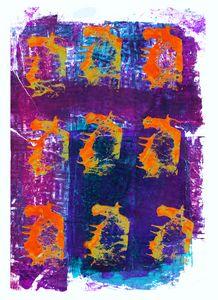 abstract art mixed media print No 46