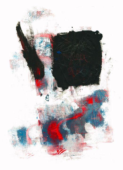 abstract art mixed media print No 51 - Malgorzata Hincza