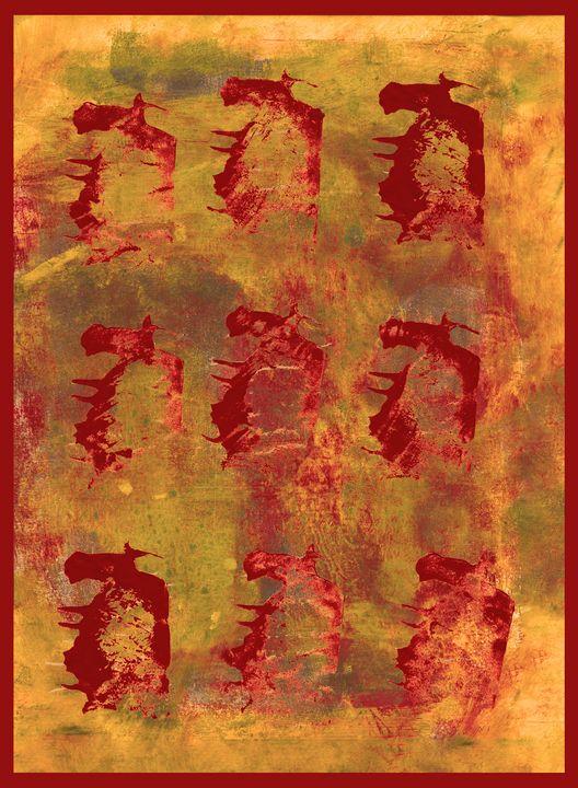 abstract art mixed media print No 54 - Malgorzata Hincza